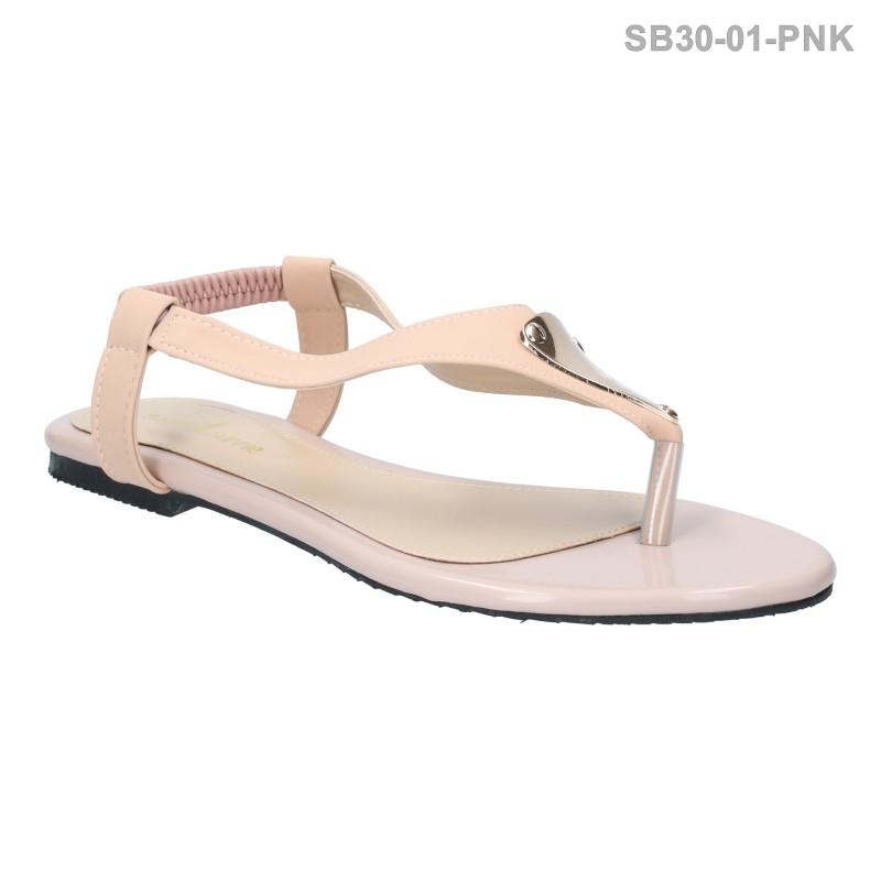 ลดล้างสต๊อก รองเท้าส้นแบน SB30-01-PNK [สีชมพู]