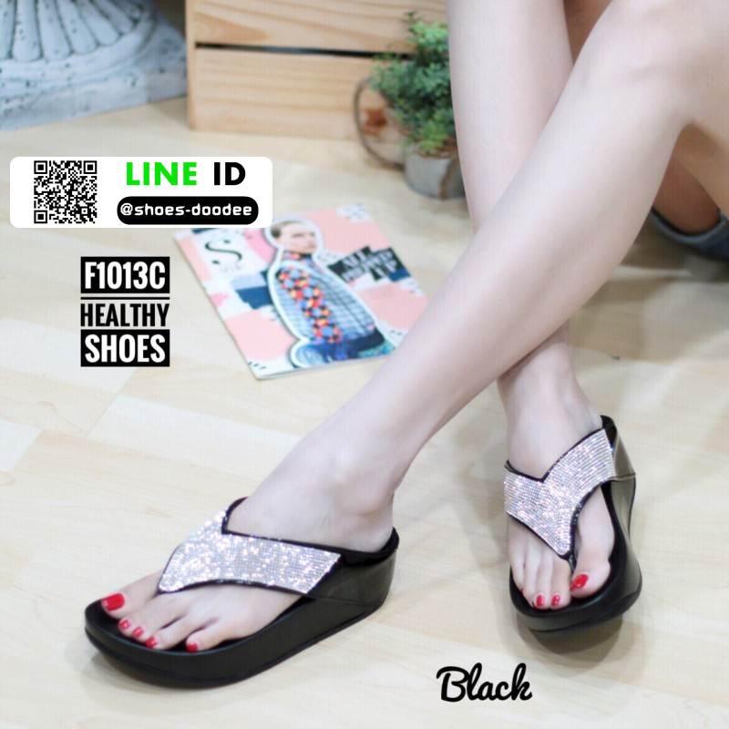รองเท้าแตะเพื่อสุขภาพ ฟิทฟลอปหนีบ F1013-BLK-NEW [สีดำ]