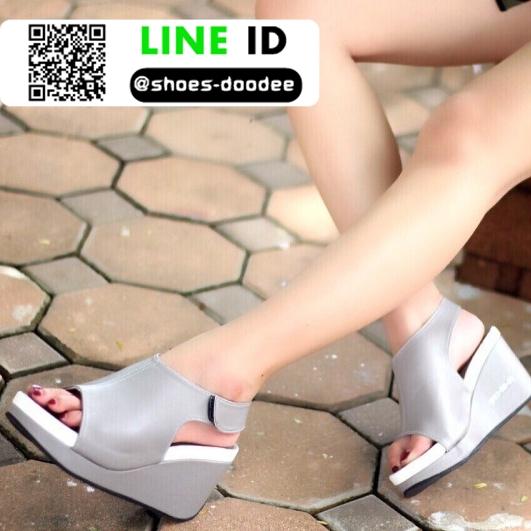 รองเท้าลำลองรัดส้น สไตล์สุขภาพ 981-93-GRY [สีเทา]