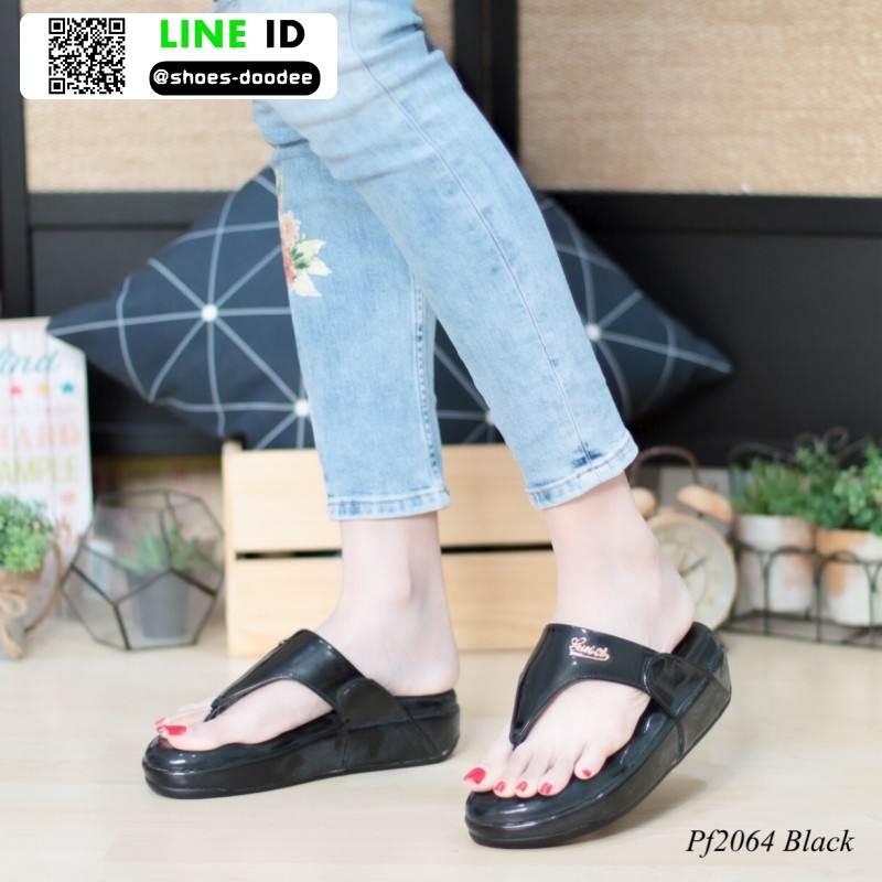 รองเท้าสุขภาพพื้นนิ่มใส่สบาย PF2064-BLK [สีดำ]