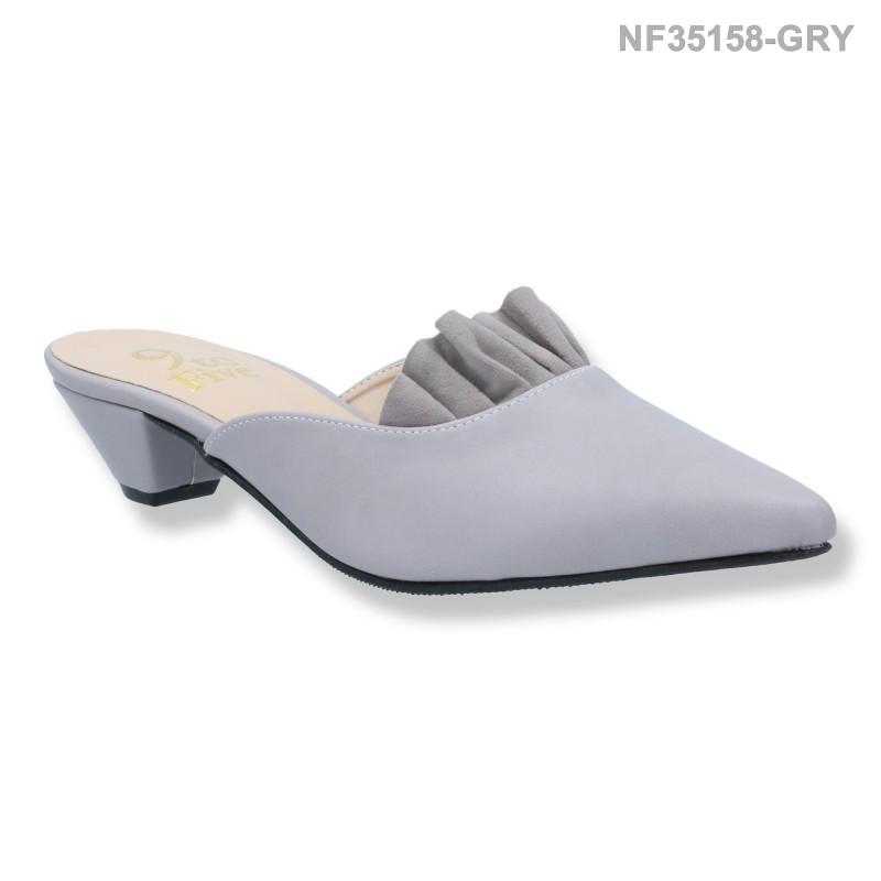 ลดล้างสต๊อก รองเท้าส้นเตี้ย NF35158-GRY [สีเทา]