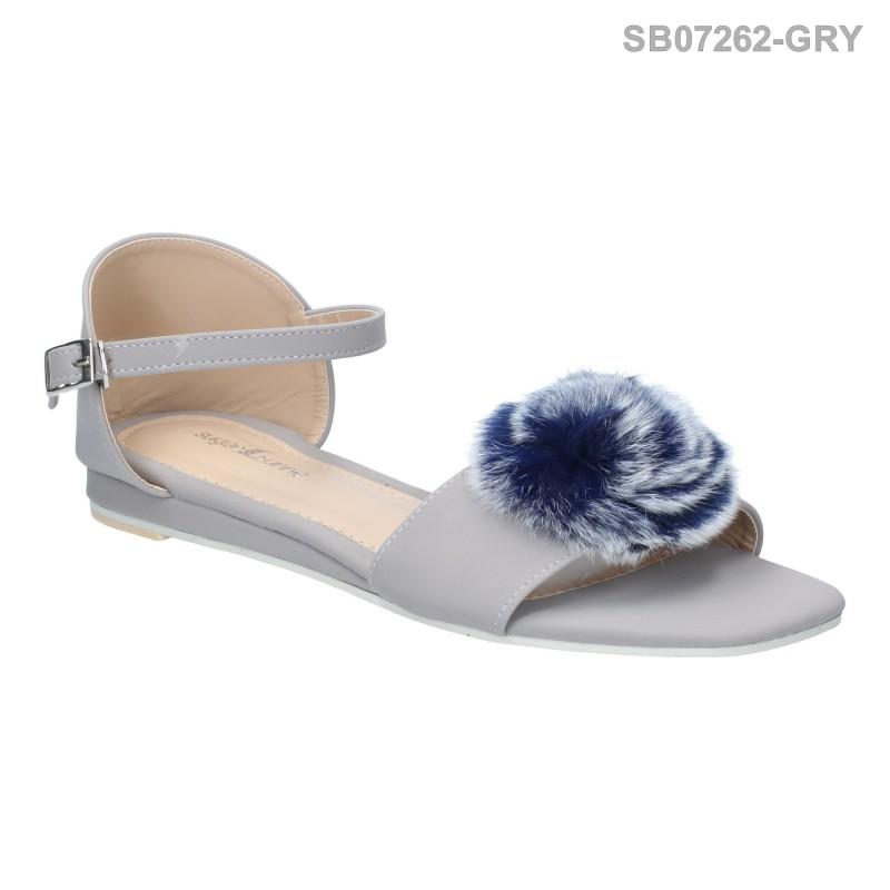 ลดล้างสต๊อก รองเท้าส้นแบน SB07262-GRY [สีเทา]
