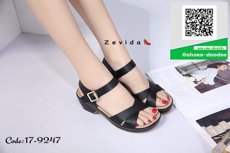 รองเท้าแตะรัดส้นสีดำ สำหรับคนรักสุขภาพ (สีดำ )