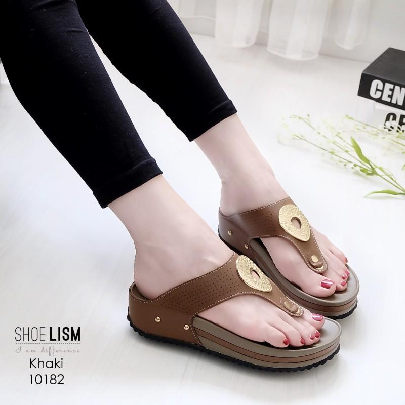 รองเท้าสุขภาพ พื้นนุ่ม 10182-กากี [สีกากี]