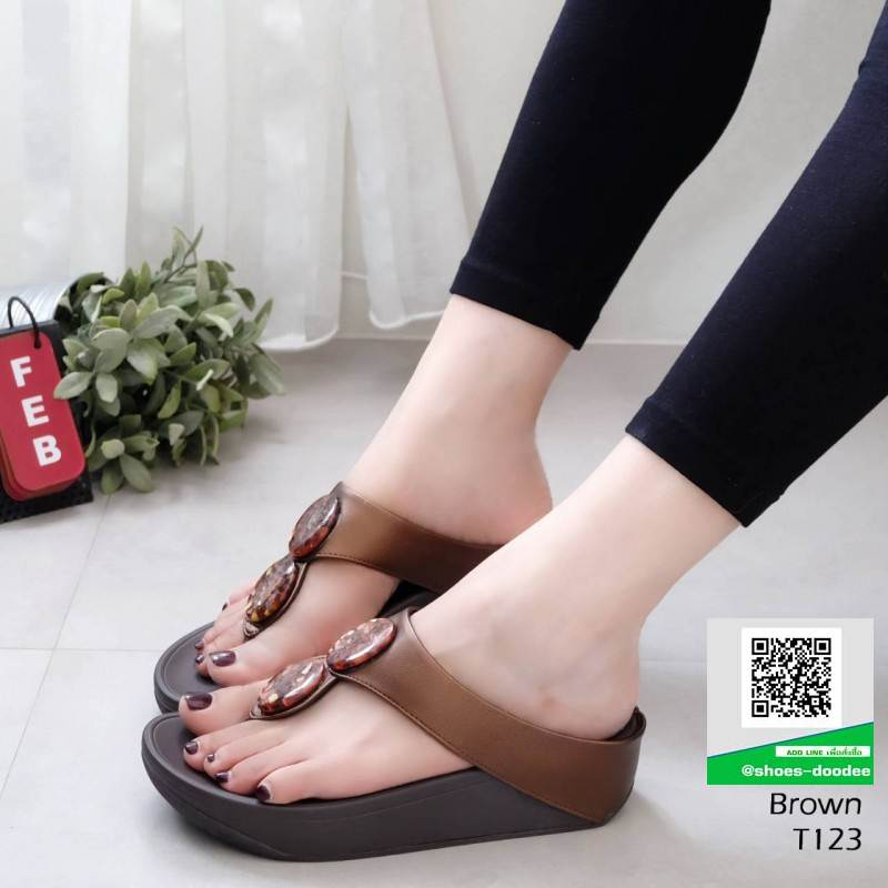 รองเท้าสุขภาพที่ดูไม่ธรรมดา T123-น้ำตาล [สีน้ำตาล ]