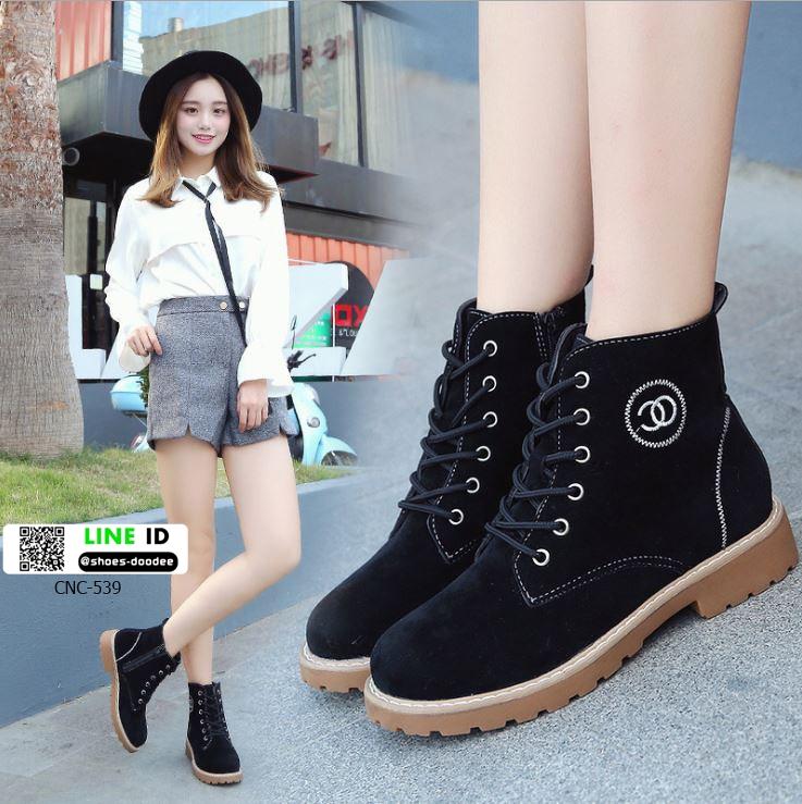 รองเท้าบูทมาร์ตินนำเข้า สไตล์เกาหลี CNC-539-BLK [สีดำ]