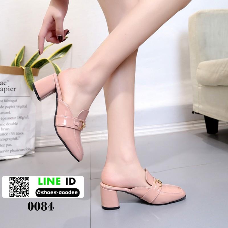 รองเท้าส้นสูงนำเข้าคุณภาพ 0084-ชมพู [สีชมพู]