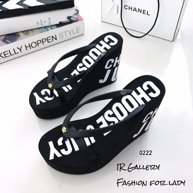 รองเท้าส้นเตารีด juice 0222-ดำ [สีดำ]