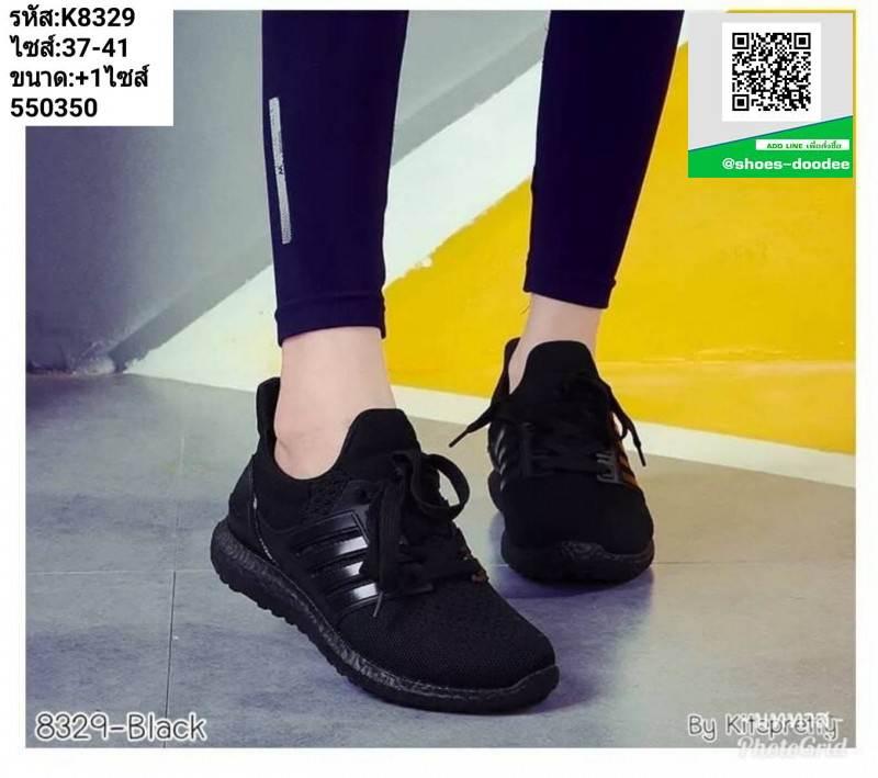 รองเท้าผ้าใบSport K8329-BLK [สีดำ]