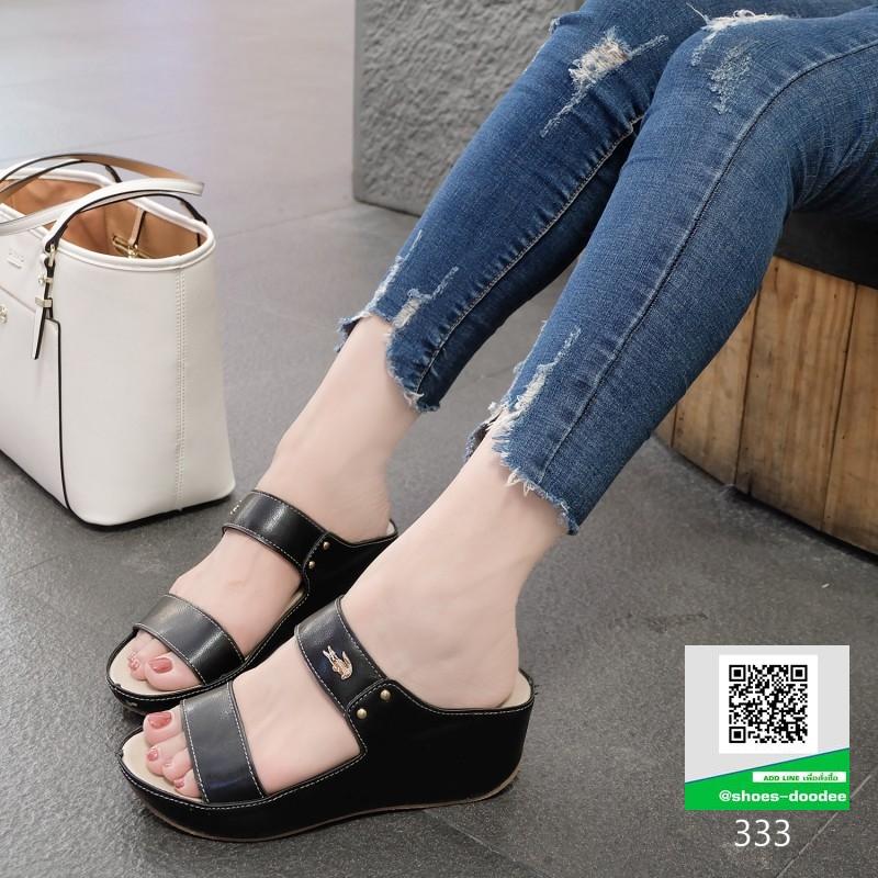 รองเท้าเตารีด สีพาสเทลสวยจับใจ 333-ดำ [สีดำ]
