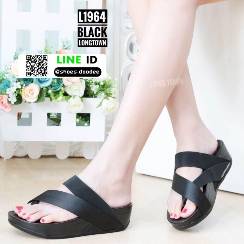 รองเท้าสุขภาพเพื่อ แบบสวมโป้ง L1964-BLK [สีดำ]