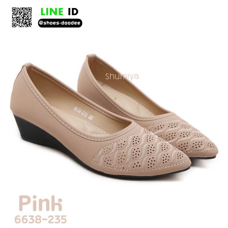 รองเท้าคัชชูดีไซน์ทรงหัวแหลมจ้าา 6638-235-PNK [สีPNK]