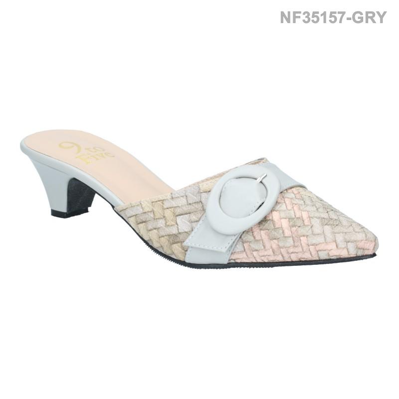 ลดล้างสต๊อก รองเท้าส้นเตี้ย NF35157-GRY [สีเทา]