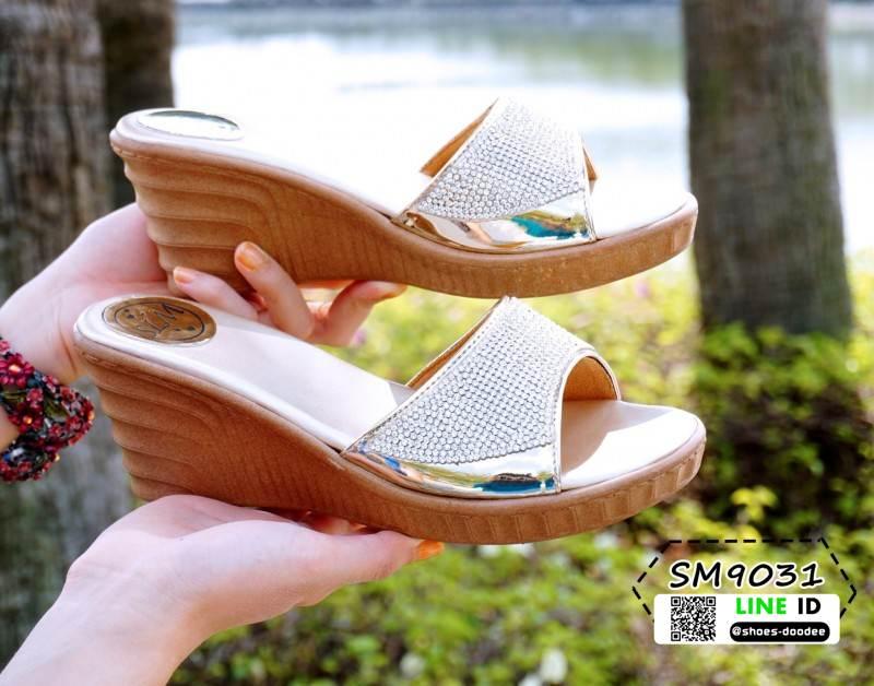 รองเท้าส้นสูง เปิดส้น ส้นตัน SM9031-GLD [สีทอง]