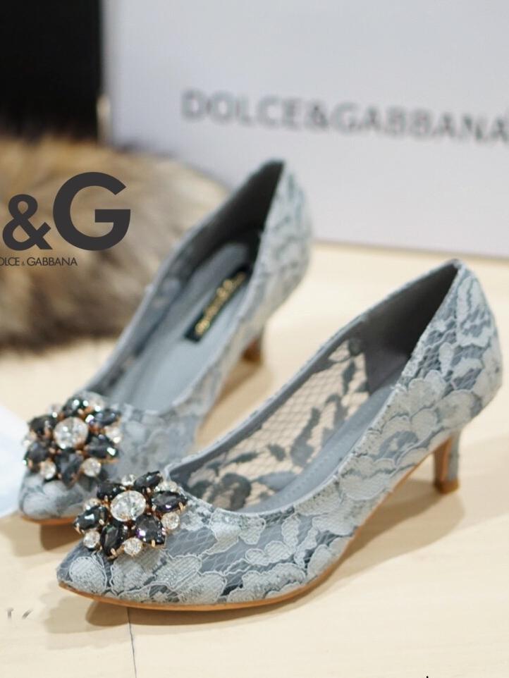รองเท้าคัทชูส้นสูง DOLCE&GABBANA (สีเทา)