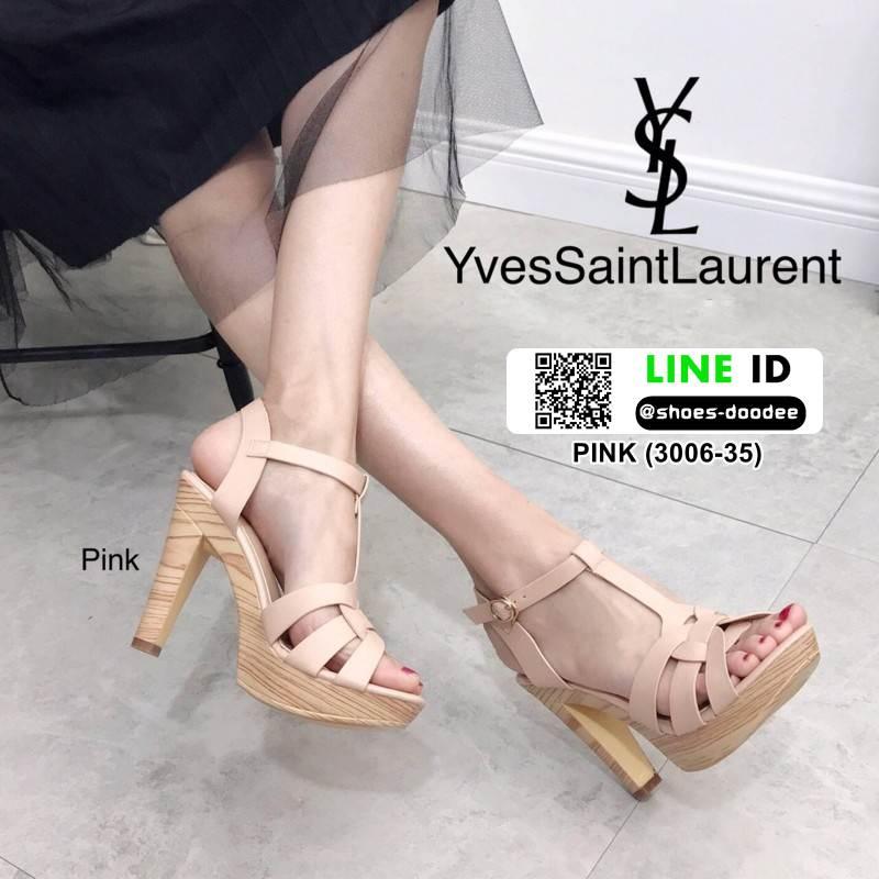 รองเท้าส้นสูง สไตล์แบรนด์เนม 3006-35-PINK [สีชมพู]