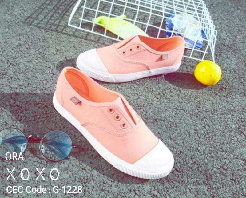 ผ้าใบ ไม่มีเชือก G-1228-ORA [สีส้ม]