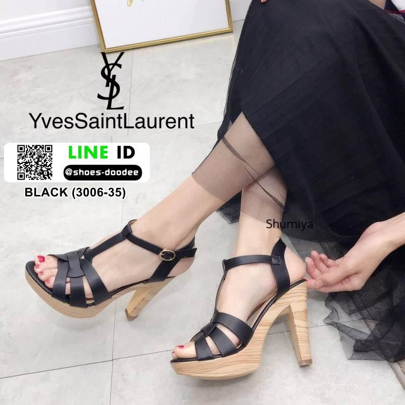 รองเท้าส้นสูง สไตล์แบรนเนม สวยเกร๋ 3006-35-BLACK [สีดำ ]