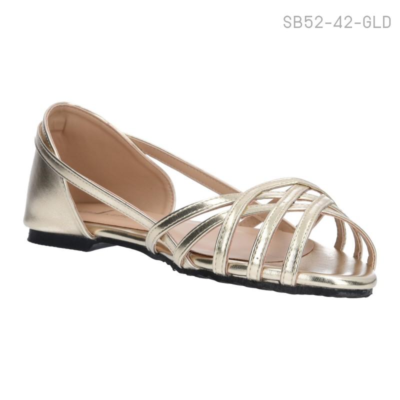 ลดล้างสต๊อก รองเท้าส้นแบน SB52-42-GLD [สีทอง]