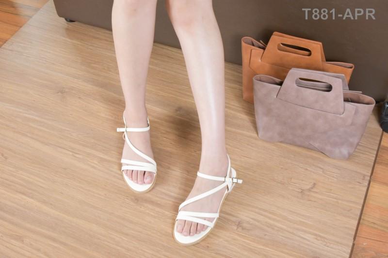 ลดล้างสต๊อก รองเท้าส้นแบน T881-APR [สีแอปริคอท]