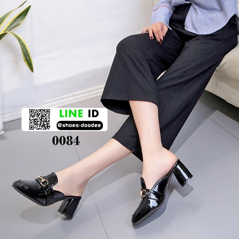 รองเท้าส้นสูงนำเข้าคุณภาพ 0084-ดำ [สีดำ]
