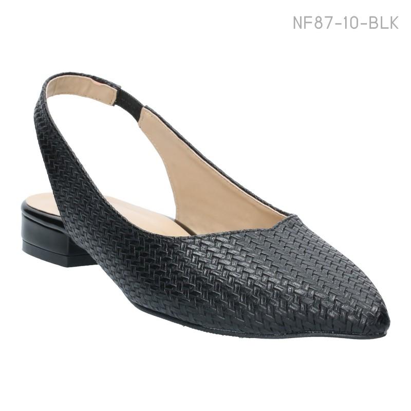 ลดล้างสต๊อก รองเท้าส้นเตี้ย NF87-10-BLK [สีดำ]