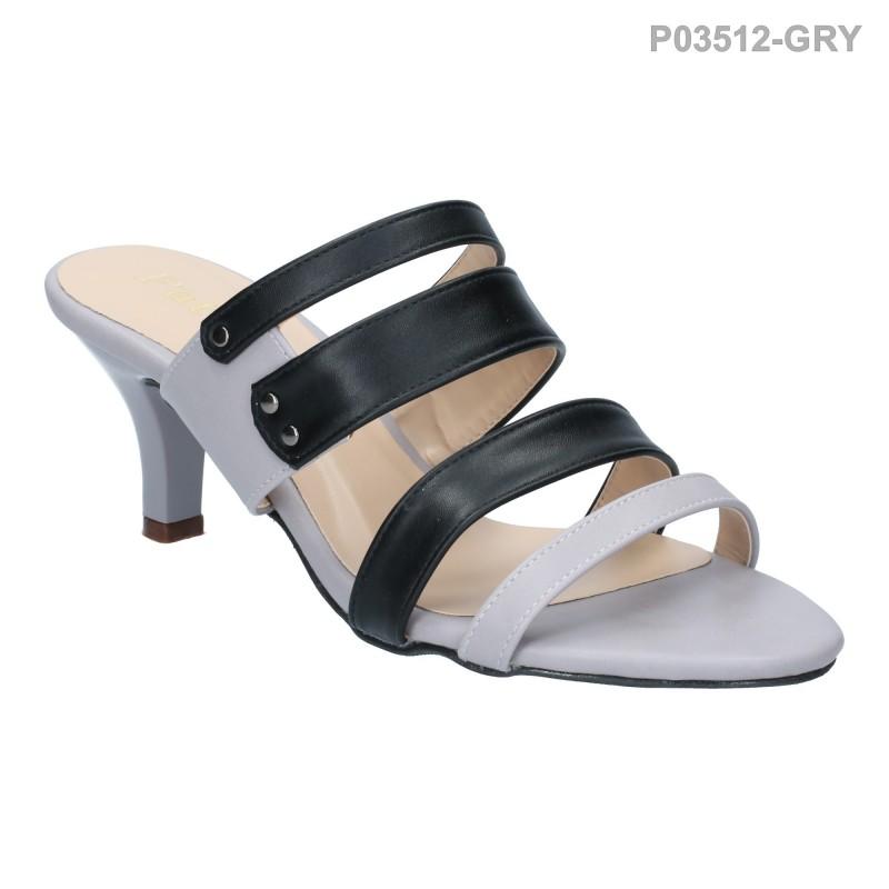 ลดล้างสต๊อก รองเท้าส้นเตี้ย P03512-GRY [สีเทา]