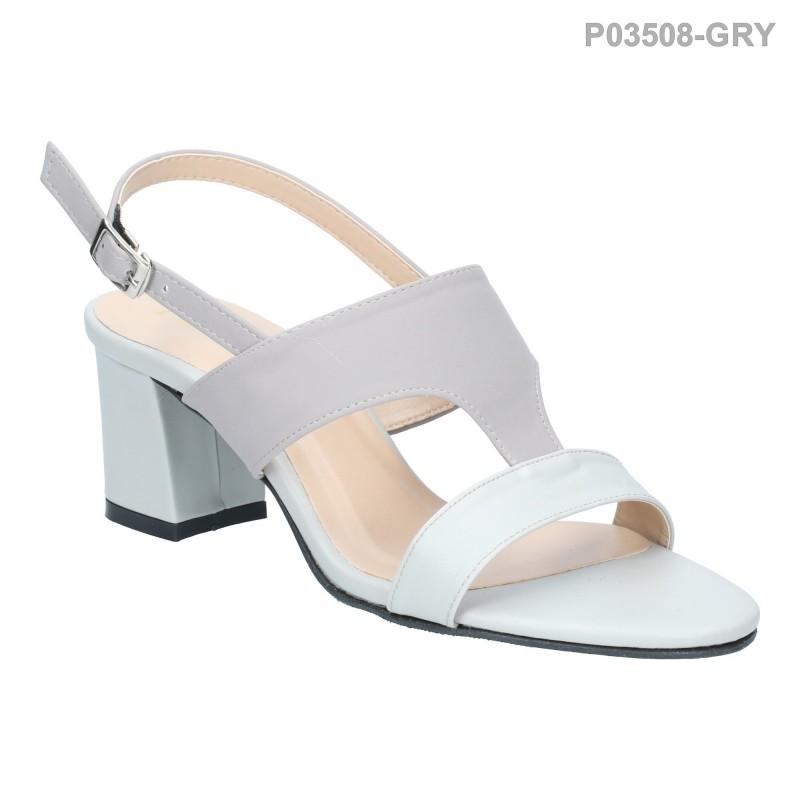 ลดล้างสต๊อก รองเท้าส้นเตี้ย P03508-GRY [สีเทา]