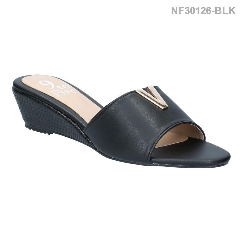 ลดล้างสต๊อก รองเท้าส้นเตี้ย NF30126-BLK [สีดำ]