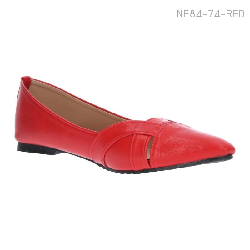 ลดล้างสต๊อก รองเท้าส้นแบน NF84-74-RED [สีแดง]