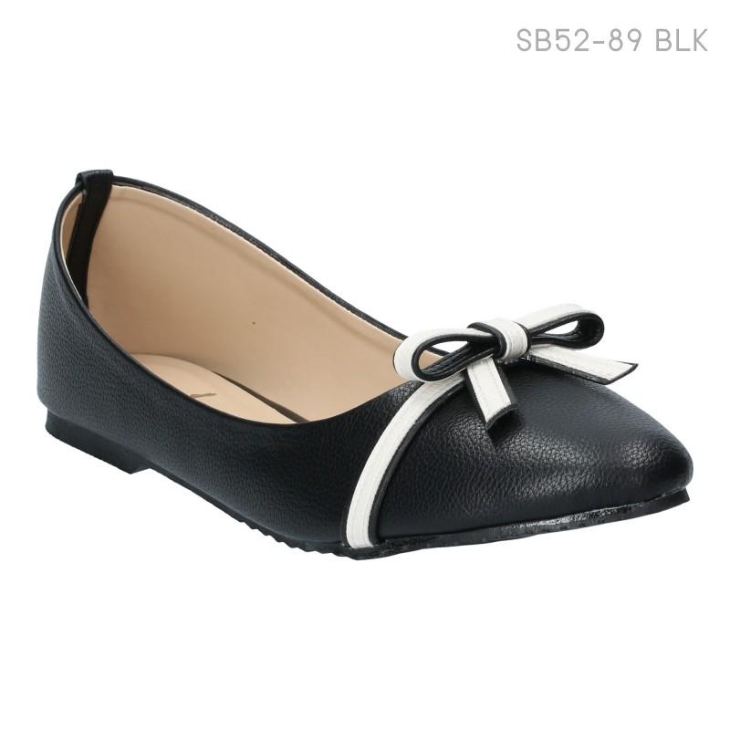 ลดล้างสต๊อก รองเท้าส้นแบน SB52-89-BLK [สีดำ]
