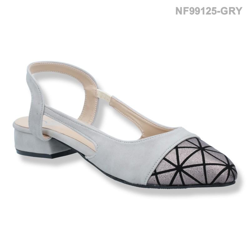 ลดล้างสต๊อก รองเท้าส้นเตี้ย NF99125-GRY [สีเทา]