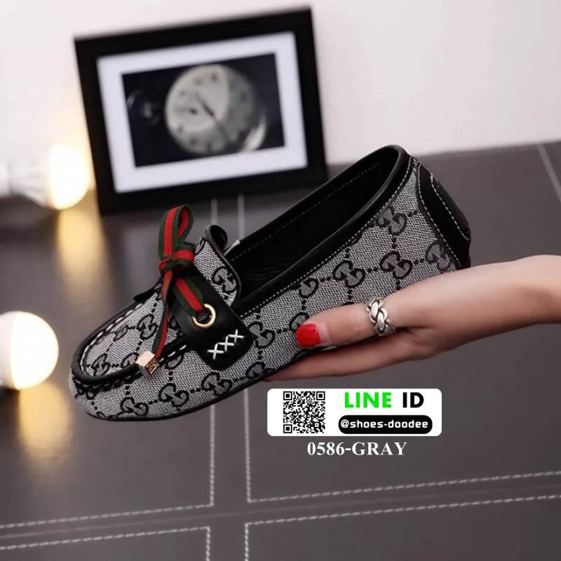 รองเท้ามินิส้นเตารีด 0586-GRAY [สีเทา]