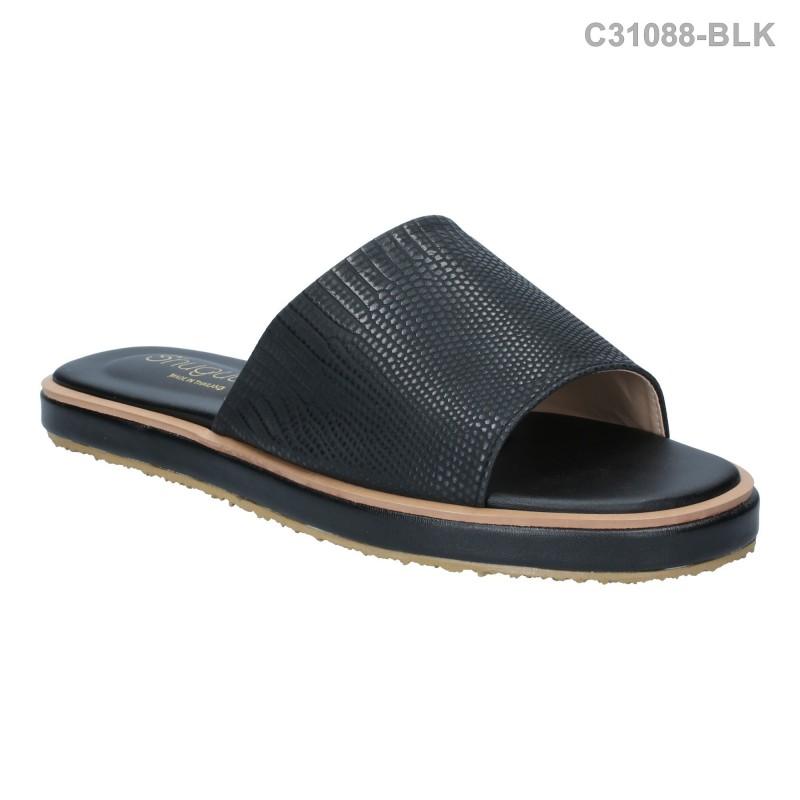ลดล้างสต๊อก รองเท้าส้นเตี้ย C31088-BLK [สีดำ]
