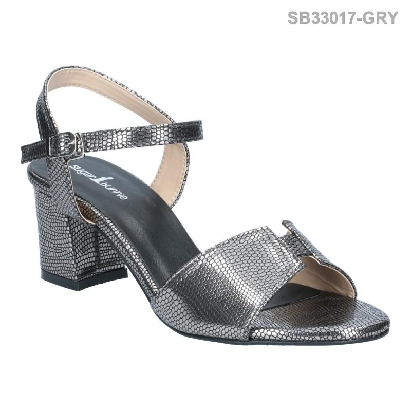 ลดล้างสต๊อก รองเท้าส้นสูงแฟชั่น SB33017-GRY [สีเทา]