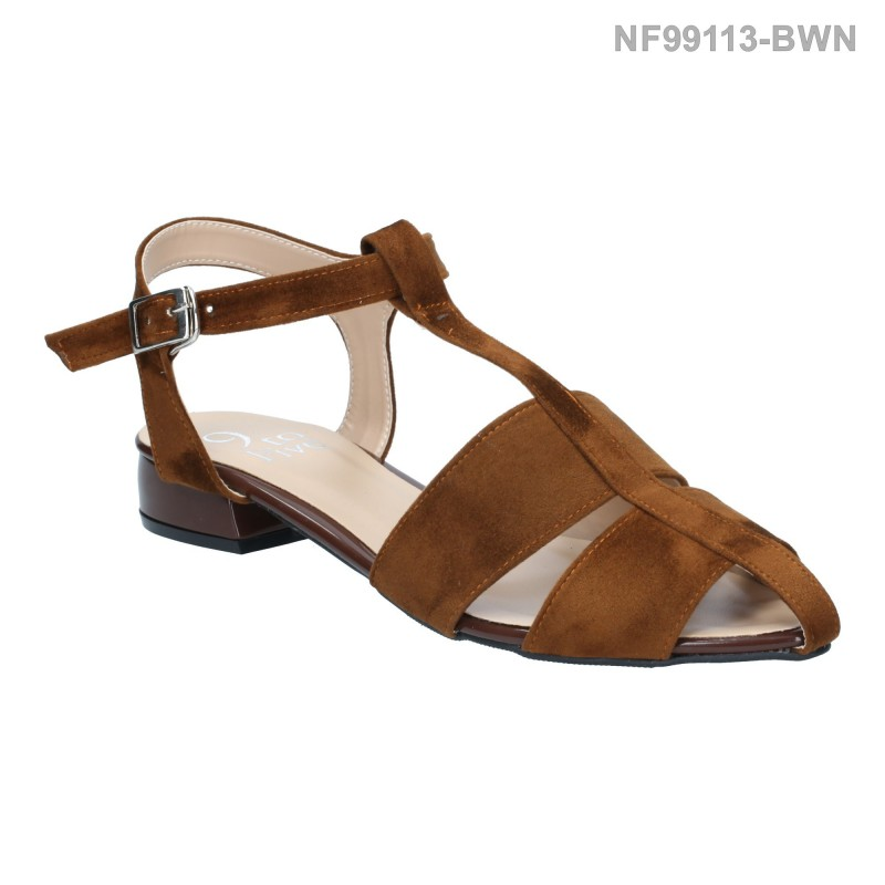 ลดล้างสต๊อก รองเท้าส้นแบน NF99113-BWN [สีน้ำตาล]
