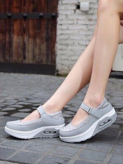 รองเท้าคัชชูสุขภาพ สไตล์สปอร์ต (สีเทา )