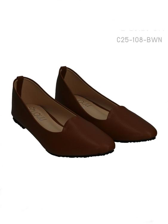 รองเท้าคัทชู โคเรียสไตล์ (สีน้ำตาล)