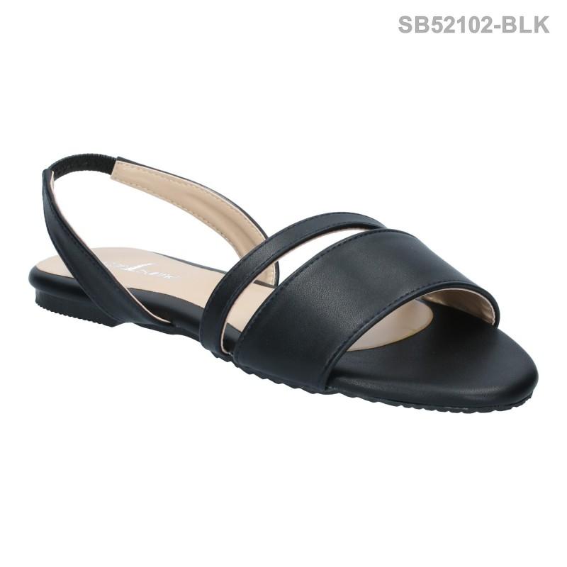 ลดล้างสต๊อก รองเท้าส้นแบน SB52102-BLK [สีดำ]