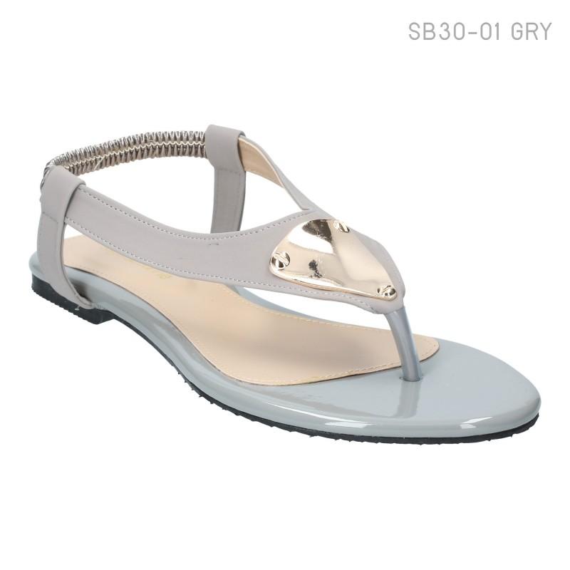 ลดล้างสต๊อก รองเท้าส้นแบน SB30-01-GRY [สีเทา]