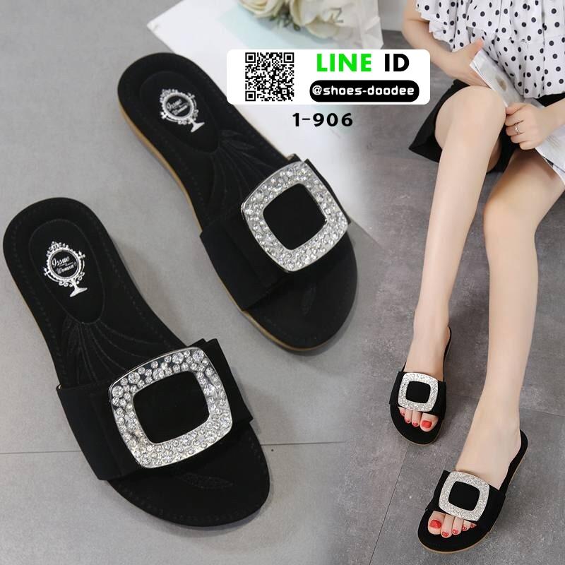 รองเท้าแตะสุขภาพ สไตล์ Roger Vivier Sandals 1-906-BLK [สีดำ]