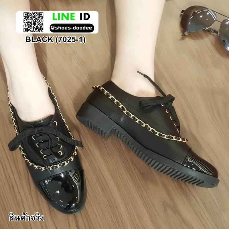 รองเท้าคัทชู สไตล์ชาแนล 7025-1-BLACK [สีดำ ]
