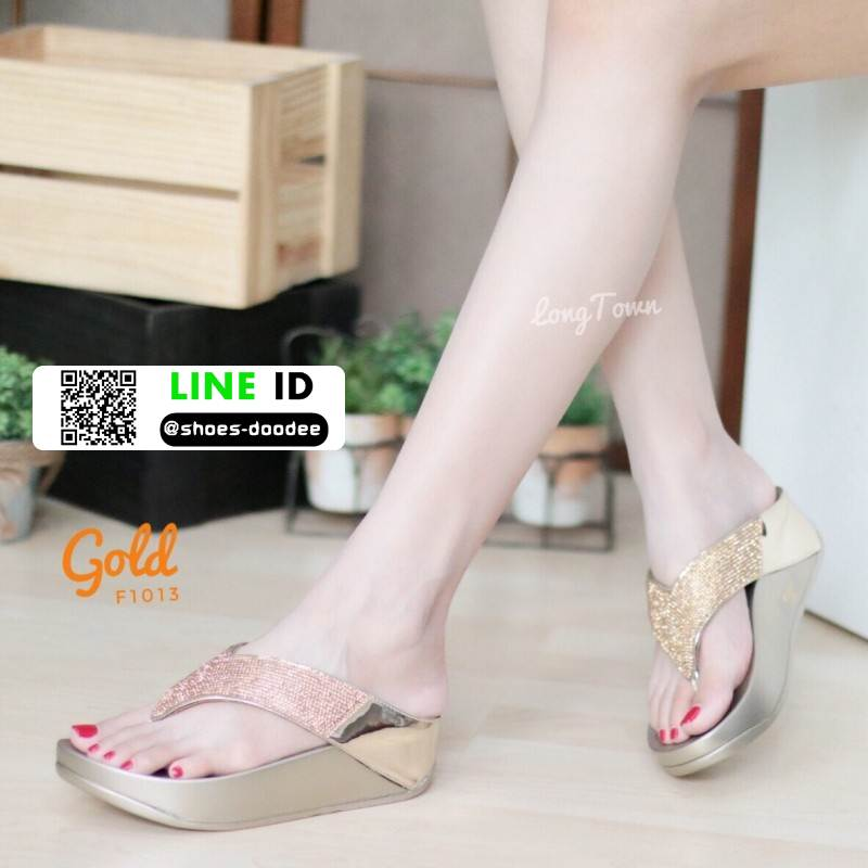 รองเท้าแตะเพื่อสุขภาพ ฟิทฟลอปหนีบ F1013-GLD [สีทอง]