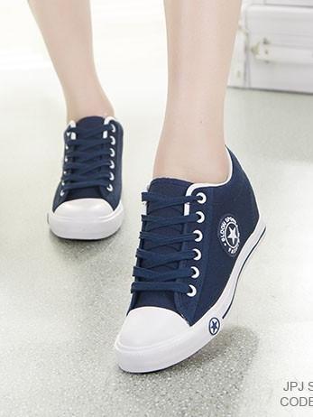 รองเท้าผ้าใบ Sneaker Converse Style (สีกรม )
