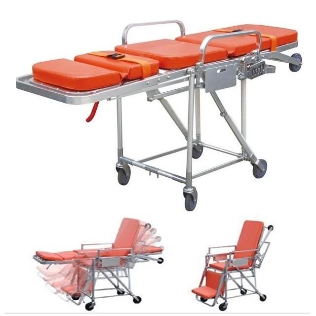 เตียงฉุกเฉินประจำรถพยาบาล (Stretcher) แบบปรับนั่ง-นอน รหัส MEN01