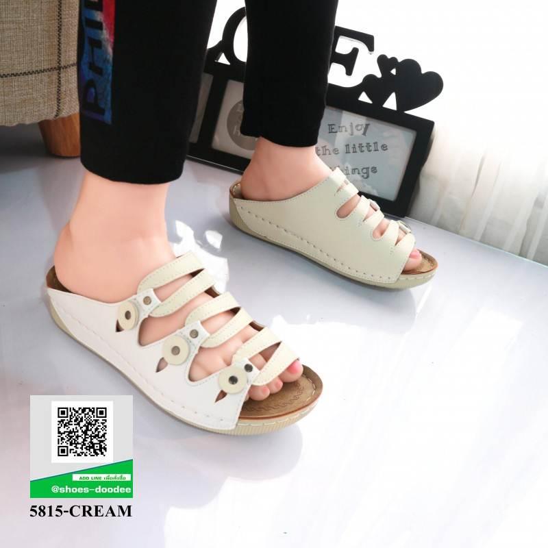 รองเท้าสไตล์เพือสุขภาพ คาดสีสลับ 5815-WHITE [สีขาว]