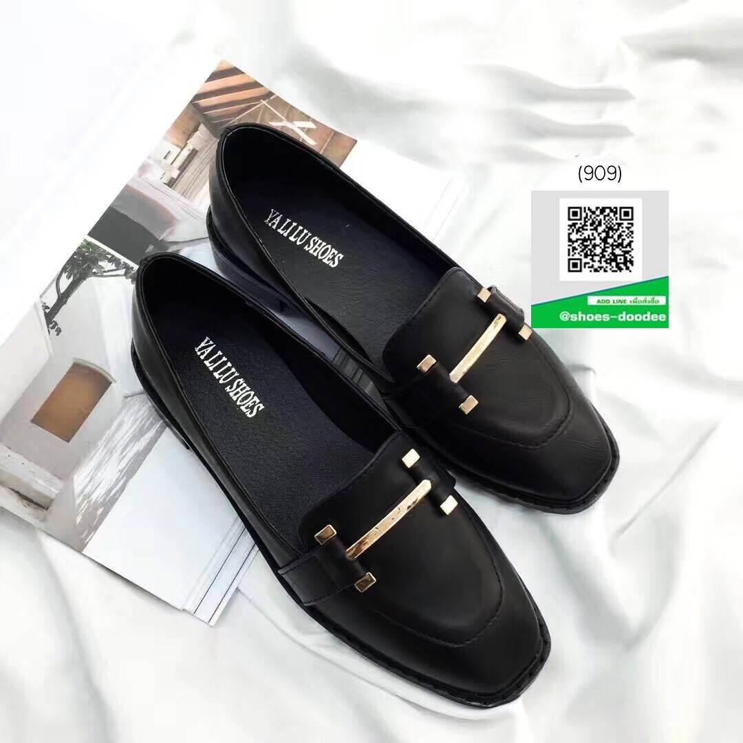 รองเท้าคัทชูสีดำ หนังนิ่ม (สีดำ )