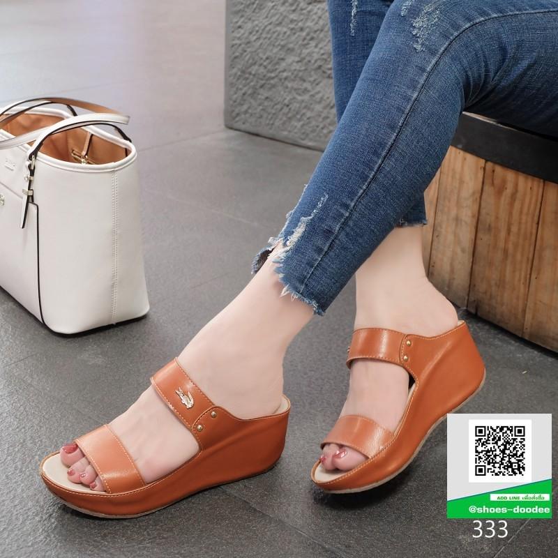 รองเท้าเตารีด สีพาสเทลสวยจับใจ 333-น้ำตาล [สีน้ำตาล ]
