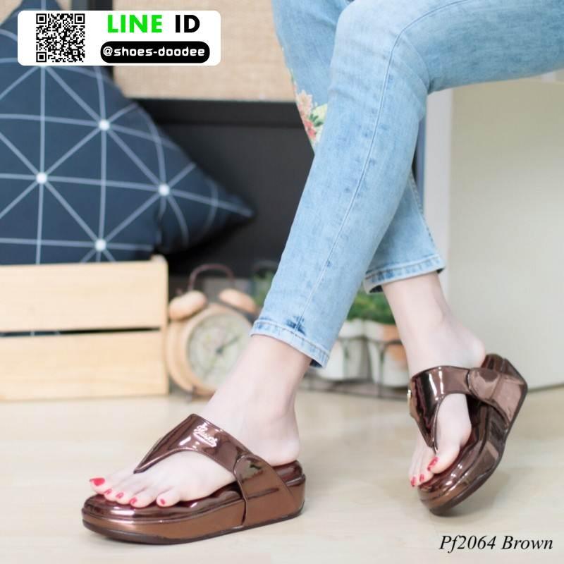 รองเท้าสุขภาพพื้นนิ่มใส่สบาย PF2064-BRN [สีน้ำตาล]