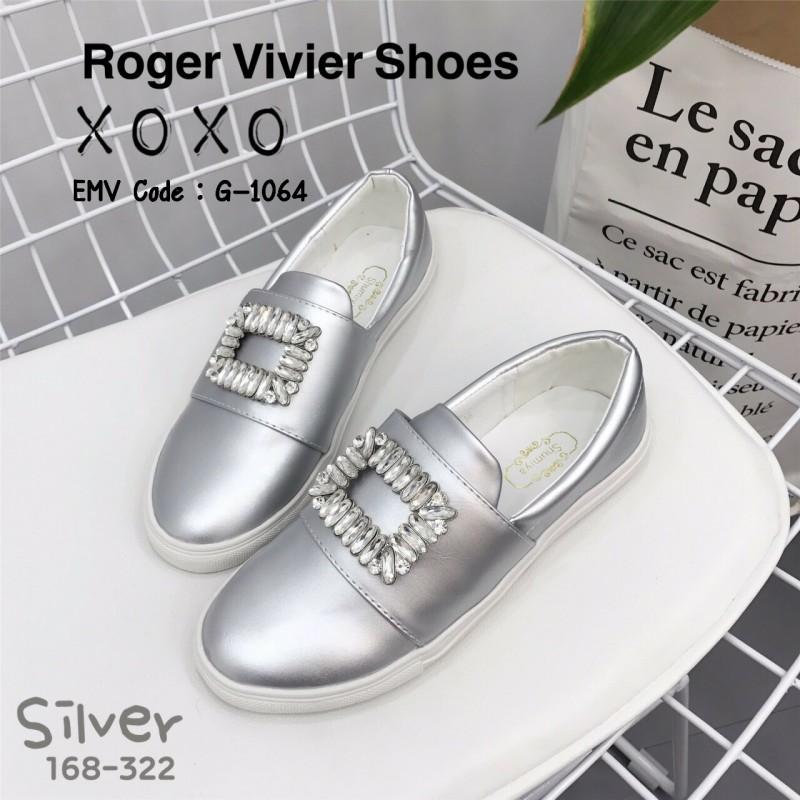 รองเท้าผ้าใบผู้หญิงสีเงิน สไตล์ แบรนด์ Roger Vivier (สีเงิน )